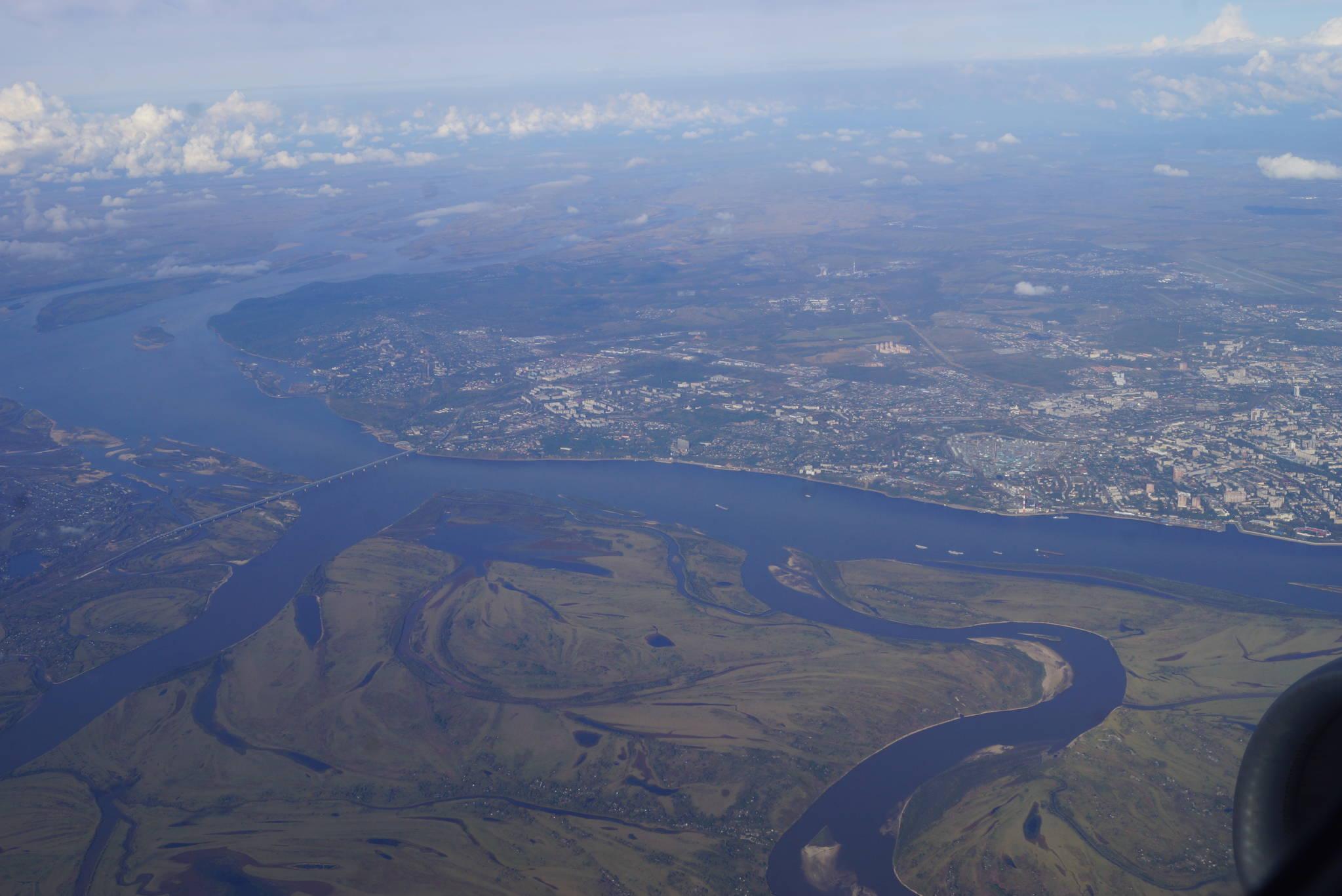 러시아 하바롭스크 인근을 흐르는 아무르강