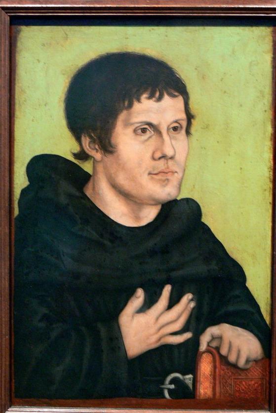 아우구스티누스 수도원 수사 시절의 마르틴 루터.