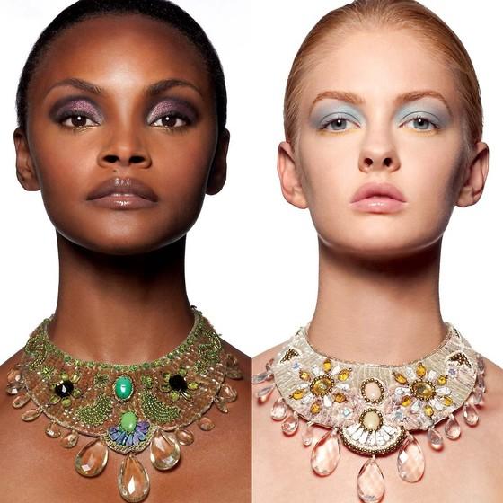 인종과 상관 없이 화장으로 개성 있는 아름다움을 보여줄 수 있다는 메시지를 담은 화보.[사진 Cloutier Remix 홈페이지]