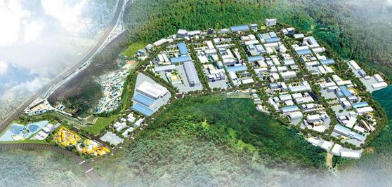 평택 진위3 산업단지가 뛰어난 첨단기업들의 요람으로 각광받고 있다. 진위3 산단 조감도.