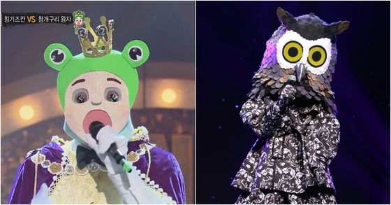 한국에서 방영되는 MBC '복면가왕'(왼쪽), 태국에서 방영되는 '복면가왕' 포맷 프로그램 '더 마스크 싱어'