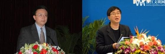 북핵을 둘러싼 해법을 놓고 중국학계에서도 논란이 뜨겁다.자칭궈(賈慶國 ㆍ왼쪽) 베이징대 국제관계학원 원장과 저장(浙江)성 당대국제문제연구회 주즈화(朱志華) 부회장이 북핵 문제를 놓고 지면을 통해 날 선 비판을 주고받았다.