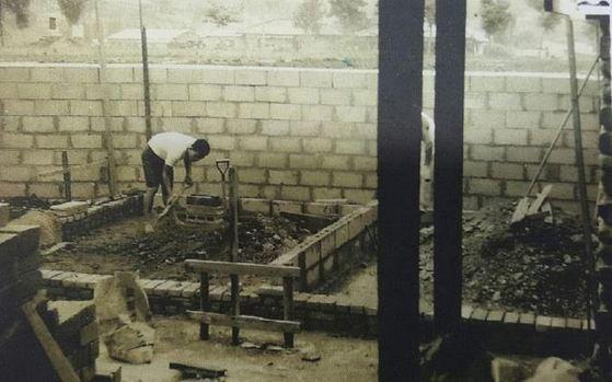 이일성로원 보수 공사를 하는 손문권 대표 [사진 이일성로원·보건복지부]