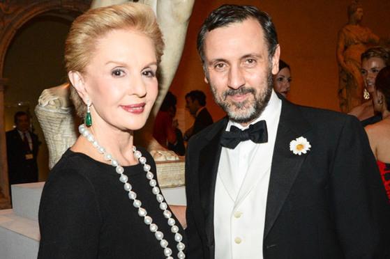 캐롤리나 헤레라(왼쪽)와 에르베 피에르. 에르베 피에르는 캐롤리나 헤레라의 크레이티브 디렉터로 2016년까지 일했다. [사진 Joe Schildhorn]