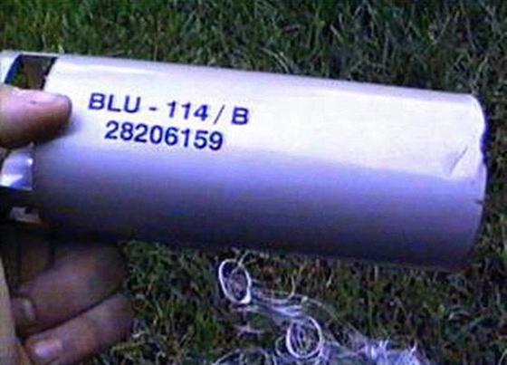 코소보 폭격에 사용된 탄소섬유탄의 자탄. [사진 글로벌 시큐리티 캡처]