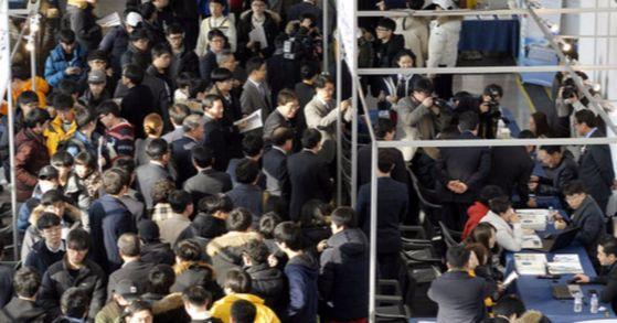 전국 150여개 사립대 총장들의 모임인 한국사립대학총장협회의회가 내년 신입생부터 입학금을 단계적으로 폐지하기로 합의했다. 사진은 지난 '2017 대학입시박람회' 모습.프리랜서 김성태