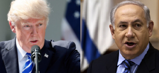 도널드 트럼프 미국 대통령과 베냐민 네타냐후 이스라엘 총리. [중앙포토]