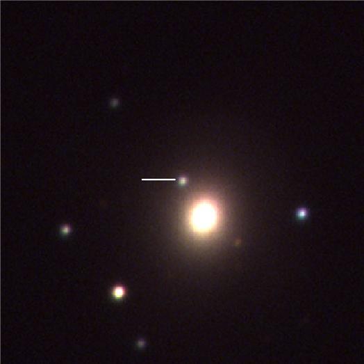 한국천문연구원이 KMTNet 남아프리카 관측소가 포착한 GW170817의 모습. [사진 한국천문연구원]