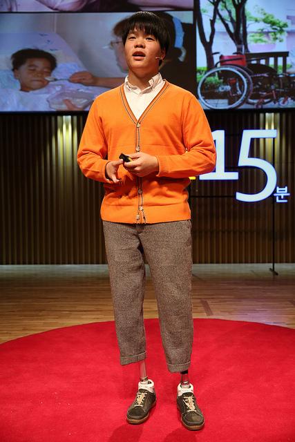 세상을 바꾸는 시간 15분(세바시)시에서 강연하고 있는 김세진. [사진 세바시]