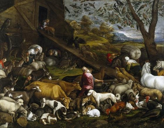 자코보 바사노의 '노아의 방주에 들어가는 동물들'(1570). [중앙포토]