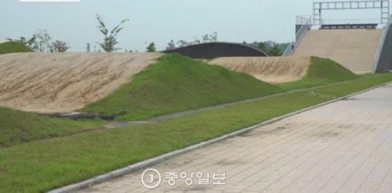 인천 아시안게임 사이클 BMX 경기가 치러진 강화 BMX경기장. 인천=김준영 기자