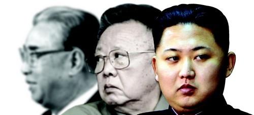 북한의 세습 권력자들. 김일성 김정일 김정은