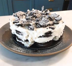 [혼밥의정석] 이 비주얼이 오븐 없이 쿠키로 만든 케이크?
