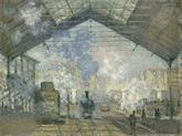 생라자르 역, 클로드 모네, 1877, 캔버스에 유채, 오르세 미술관 소장