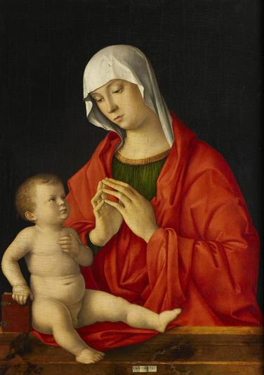 성모 마리아와 아기 예수, 죠반니 벨리니. [루브르 아부다비]