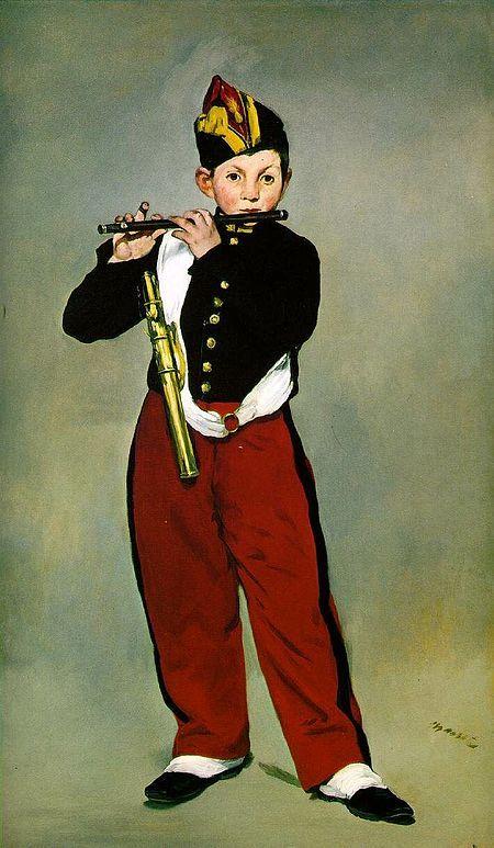 피리 부는 소년, 에두아르 마네, 1866, 캔버스에 유채, 오르세 미술관 소장