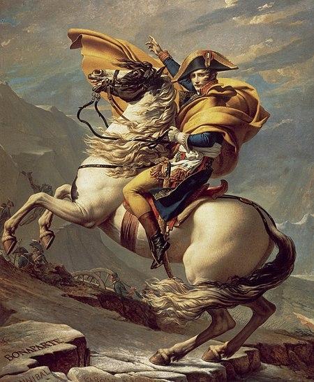 알프스를 넘는 나폴레옹, 자크루이 다비드, 1801, 캔버스에 유채, 말메종 성 소장