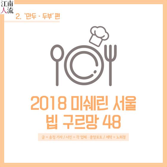 [카드뉴스] 2018 미쉐린 서울 빕 구르망 48 ②만두·두부
