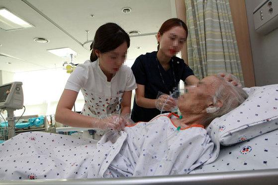 한국인 간병인이 상대적으로 많은 요양병원을 선택하자. [중앙포토]