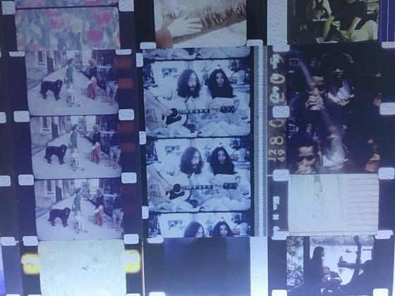 전시장에 선보인 요나스 메카스 작품의 부분 모습. 사진=이후남 기자