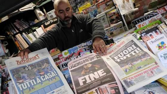 '종말' 등의 표현을 쓰며 60년 만의 월드컵 진출 좌절을 보도한 현지 신문들 [라나시옹 캡처]
