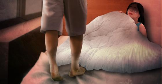 40대 남성은 아내가 집을 비우자 10대 의붓딸의 몸을 더듬었다. [연합뉴스]