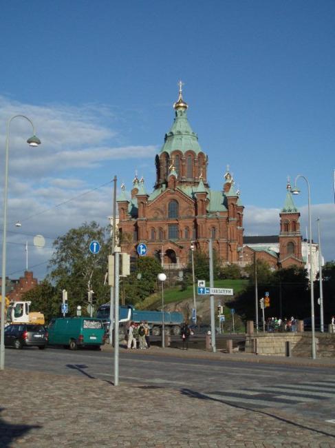 1868년 완공된 헬싱키의 우스펜스키 러시아 정교 교회.