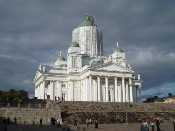 1852년 세워진 핀란드 수도 헬싱키의 헬싱키 교회.