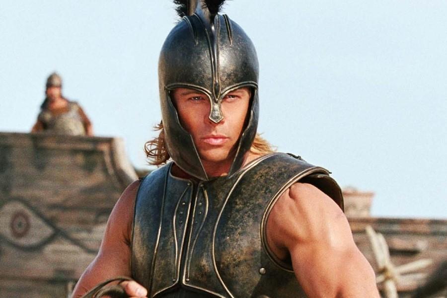 영화 속에서 아킬레우스 역할을 맡은 브래드 피트. [영화 트로이]