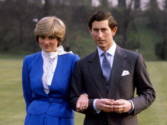 1981년 찰스 왕세자와 약혼할 당시의 다이애나 [PA]