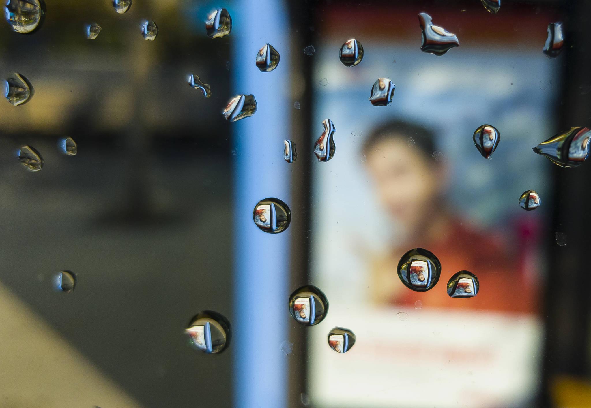 핸드폰사진관 20171127 버스창 물방울