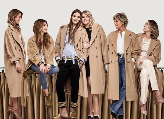 1981년 첫 선을 보인 이래 지금까지 만들고 있는 막스마라의 '101801' 코트. 2016년엔 엄마와 딸이 함께 입는 옷이라는 컨셉트의 광고 캠페인을 진행했다.
