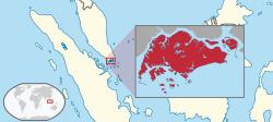 서대한 무슬림 국가 말레이시아와 인도네시아에 둘러싸인 작은 도시 국가 싱가포르.[위키피디아]