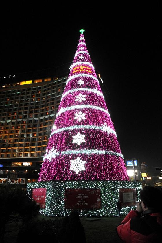 2014년 서울광장에 설치된 트리.