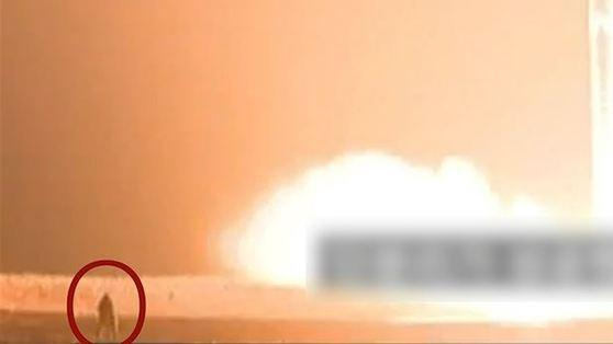 북한 주민들은 화성-15 발상 당시 군인이 불길에 휩싸였다고 주장하고 있다. [RFA 홈페이지 캡처]