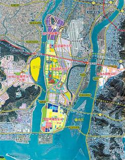 서부산권 개발계획도. 자료;부산시