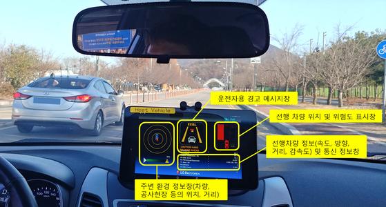 LG전자는 자동차가 다른 차량·주변 사물과 무선으로 교통 정보를 주고 받을 수 있는 롱텀에볼루션(LTE) 단말기(V2X)를 국내 최초로 개발했다. [사진 LG전자]