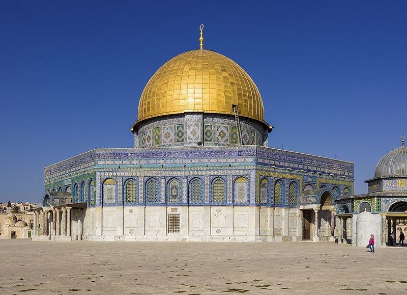 예루살렘 구시가지 성전산에 자리 잡은 바위의 돔은 7세기 우마이야 왕조의 칼리프 압드 알말리크 시절에 처음 지은 이슬람 사원이다. [중앙포토]
