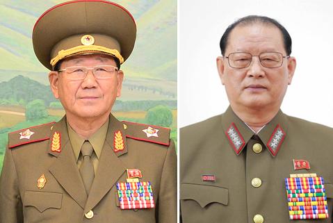 황병서(左), 김원홍(右)