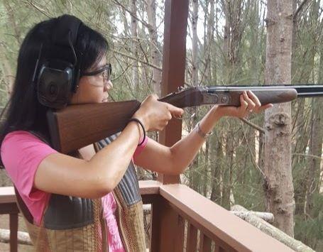 승마장 인근의 사격장. 총을 한번도 쏴보지 않은 사람도 가이드와 함께 클레이 사격을 할 수 있다. 안혜리 기자
