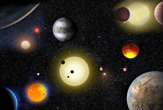 2016년 미국 항공우주국(NASA)은 케플러 우주망원경을 통해 생명체가 존재할 수 있는 외계행성 1284개를 새롭게 발견했다. 이 중에는 온도나 중력 등의 조건이 지구와 비슷해 액체 상태의 물이 존재할 가능성이 큰 외계행성 9개도 포함됐다. [NASA]