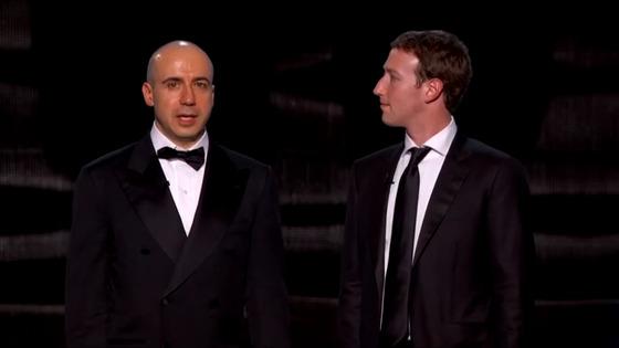 브레이크스루재단의 설립자인 러시아 출신 갑부 유리 밀너와 페이스북 창업자인 마크 주커버그. [유튜브]