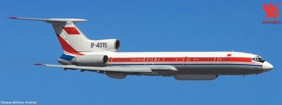 중국의 정찰기 Tu-154M. [자료 Chinese Military Aviation]