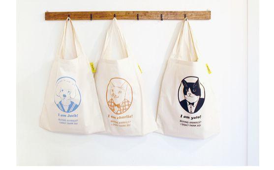 스프링베어의 에코백을 사면 구매금액의 10%를 동물보호시민단체에 기부한다. [사진 텐바이텐]