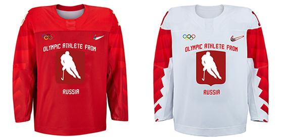 러시아 아이스하키 '중립국' 유니폼 [사진 R-스포르트 트위터]