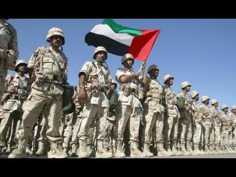 예멘 전선에 개입한 아랍에미리트 육군.