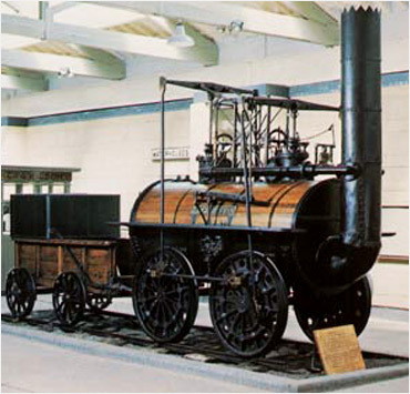 사상 최초의 증기기관차인 로코모션 1호. [중앙포토]