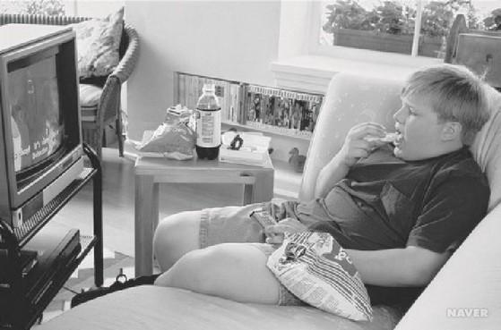 카우치 포테이토(couch potato). 소파에서 감자칩을 먹으며 TV를 본다는 뜻으로 TV 등에 빠져 고차원적인 일을 하지 못하는 현대인의 단면을 비판하는 말이다. [네이버]
