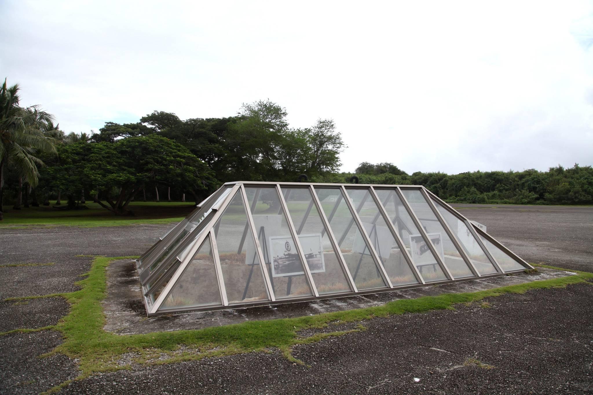 미국 공군기지였던 이곳에서 원자폭탄을 실어 일본에 투하했다.