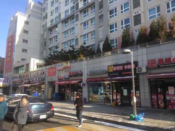 중국어 간판이 즐비한 서울 대림동 차이나타운. 남정호 기자